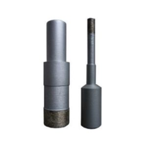 Core pin drill for granite and engineered stone