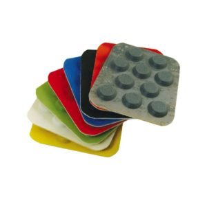 Non woven diamond polishing pads for renovation of marble