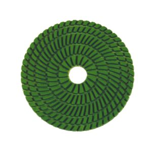 Wet polishing pad green