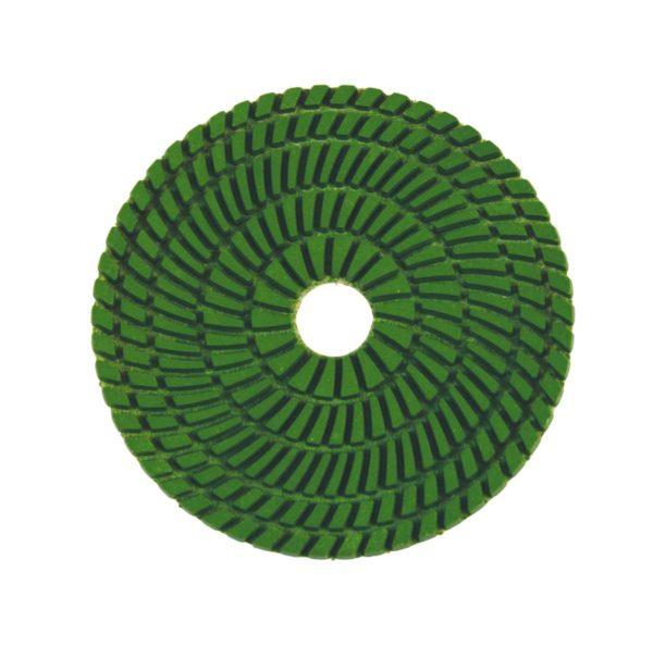 Wet polishing pad green